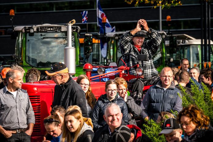 De boeren protesteerden tegen de maatregelen die de overheid wilde nemen, hier op archieffoto.