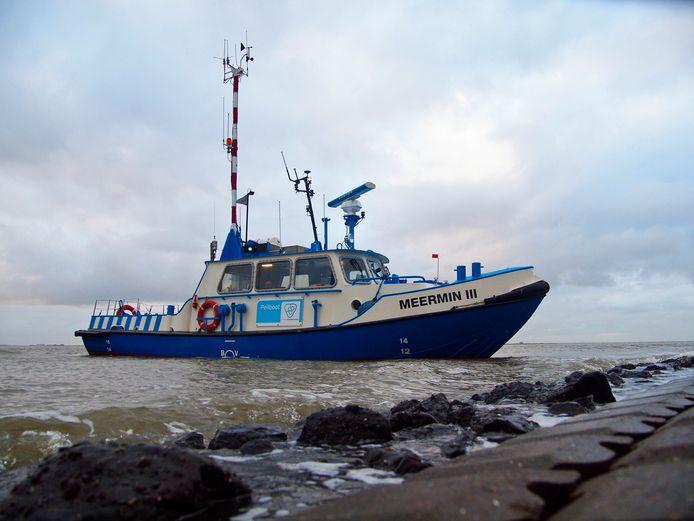 De huidige peilboot Meermin III in 2012.