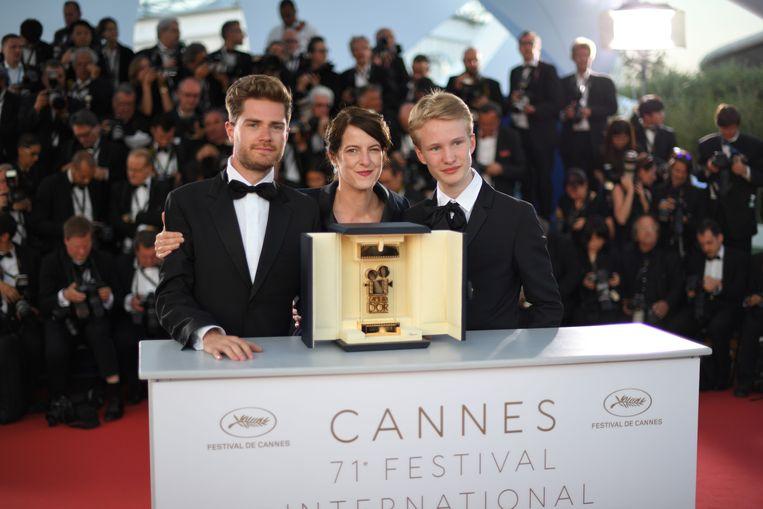 """Lukas Dhont (links), regisseur van """"Girl"""", en acteur Victor Polster (rechts)."""