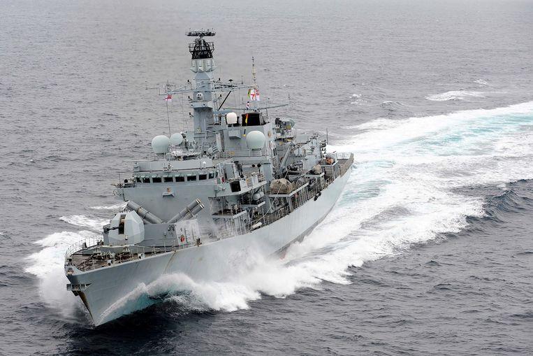 Het Britse schip de HMS Montrose. Beeld REUTERS
