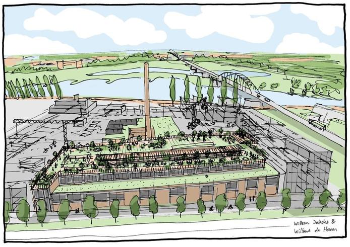 Zo zouden Wilbert de Haan en Willem Jakobs de Cobercofabriek in Arnhem graag zien.