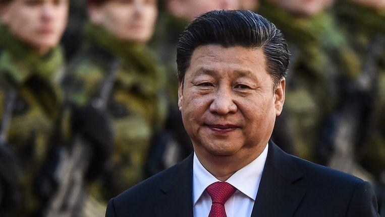 Xi Jinping op staatsbezoek in Tsjechië. Beeld epa