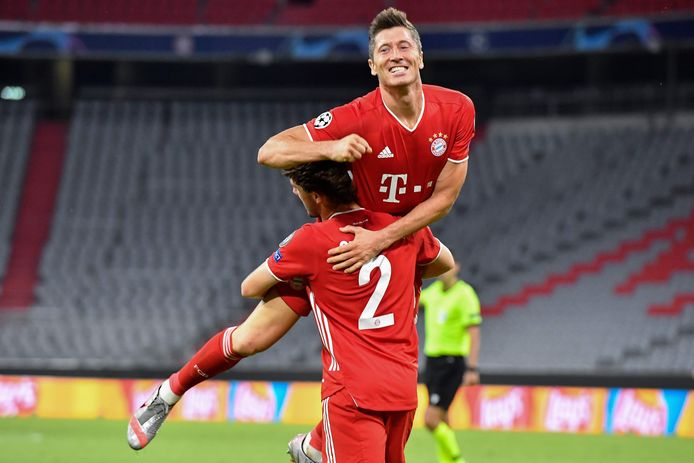 Lewandowski maakte twee goals en leverde twee assists.