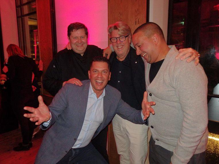 Chef Schilo van Coevorden (Taiko, 11), Jacob Jan Boerma (De Leest, 16), chef Robert Kranenborg (28) en François Geurds (FG, 23). Kranenborg: 'Het is volatiel' Beeld Schuim