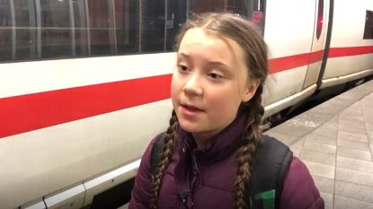 Klimaatactiviste Greta Thunberg (16) aangekomen in Brussel na lange treinreis
