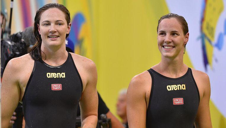 Cate Campbell (links) en haar zus Bronte. Beeld afp