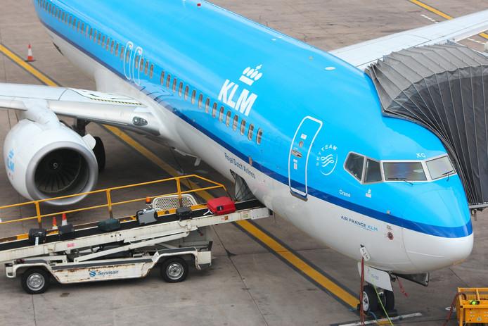 Een Boeing 737 NG van KLM. Beeld ter illustratie.