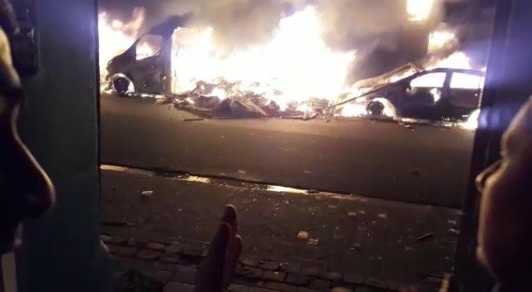 Onder meer in de Ribaucourtstraat in Molenbeek werd er vorig jaar brand gesticht.