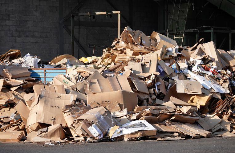 De recycling van karton en papier hapert, vooral doordat China de afname flink heeft teruggeschroefd. Beeld Hollandse Hoogte