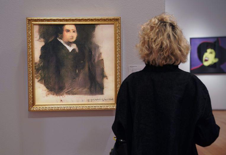 Het portret van Edmond de Belamy. Beeld AFP