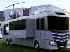Deze camper heeft een jacuzzi en een helikopter op het dak: hoezo kamperen?