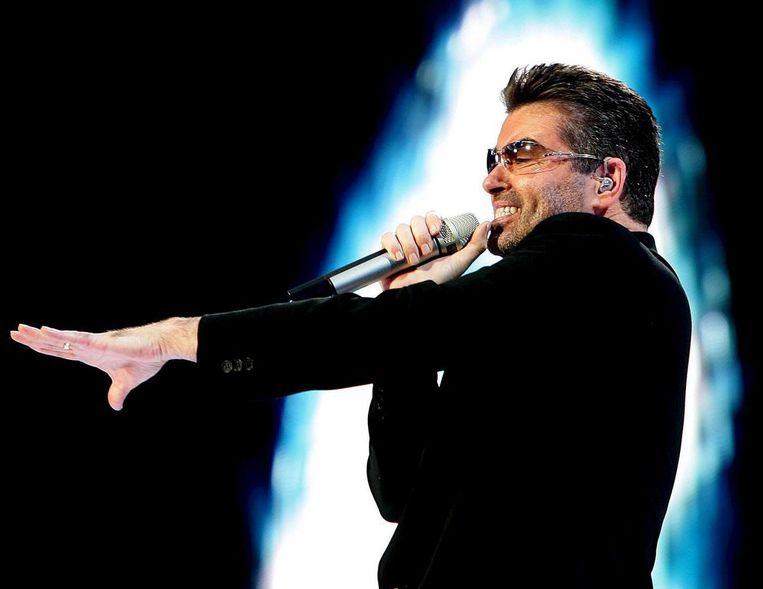 George Michael trad in 2007 op in de Amsterdam ArenA. Beeld EPA