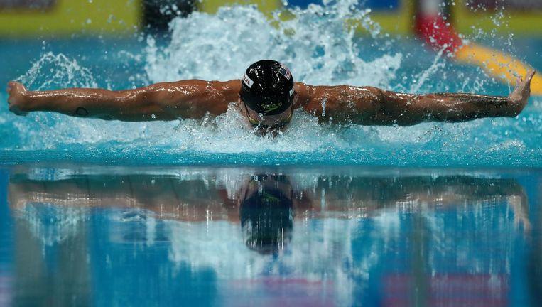 Caeleb Remel Dressel in actie tijdens de WK. Beeld AFP/Getty Images