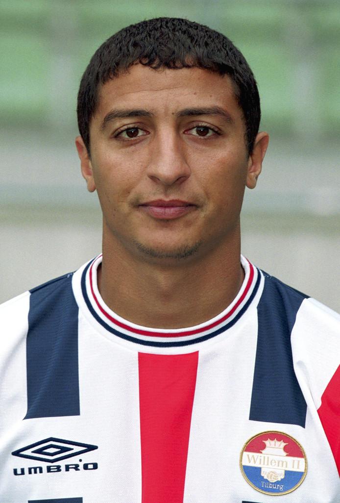 Yassine Abdellaoui in 2001, als voetballer van Willem II.