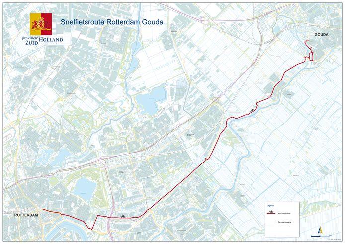 Snelfietsroute Gouda - Rotterdam