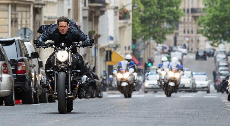 Tom Cruise doet vrijwel al zijn stunts zelf Mission: Impossible - Fallout. Beeld AP / Paramount Pictures