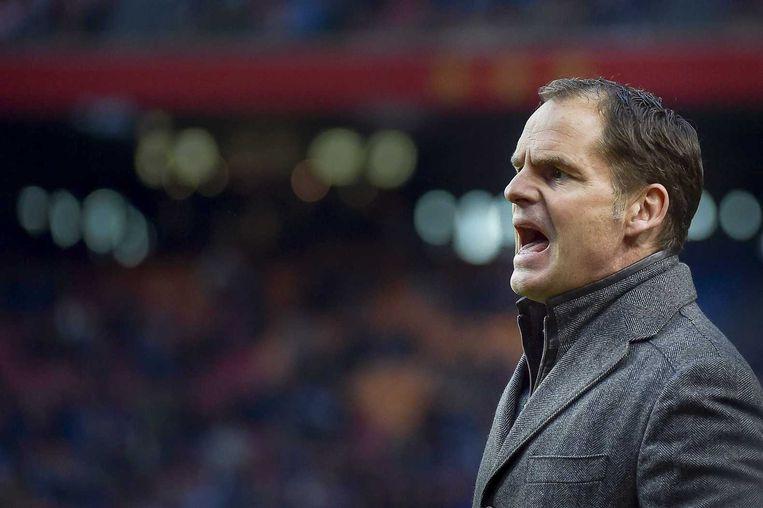 Frank de Boer als Ajax-trainer. Beeld anp