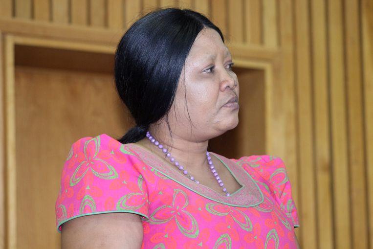 Maesaiah Thabane in de rechtbank.