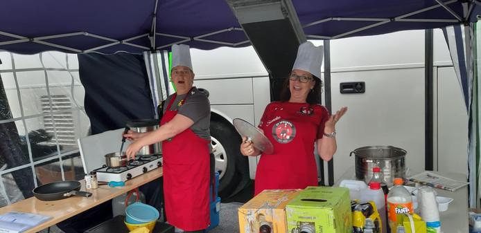 Ook de koks hielden het team de afgelopen dagen op de been.