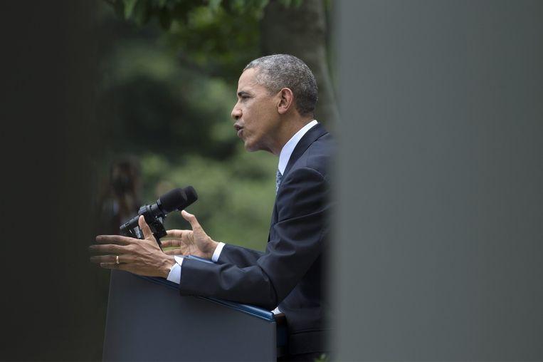 De Amerikaanse president Obama zet zijn plannen voor een nieuwe immigratiewet uiteen Beeld epa