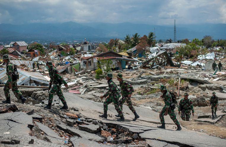 Het westelijke gedeelte van Sulawesi werd twee weken geleden getroffen door een beving met magnitude 7,4.