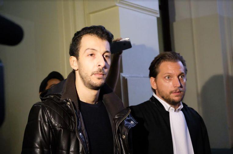 Mohamed Abdeslam en zijn advocaat Yannick De Vlaeminck.