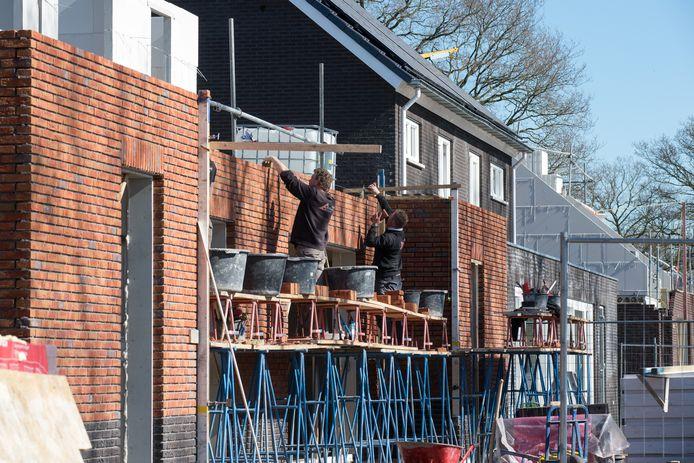 Het nieuwbouwproject Oosterdalfsen in Dalfsen tijdens de bouw. De rechtszaak in Zwolle ging over een kavel in de nieuwbouwwijk.