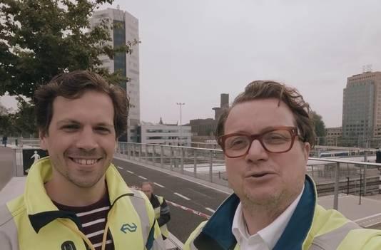 Sep Schetters en Remco Bunder, de eerste dronepiloten van NS