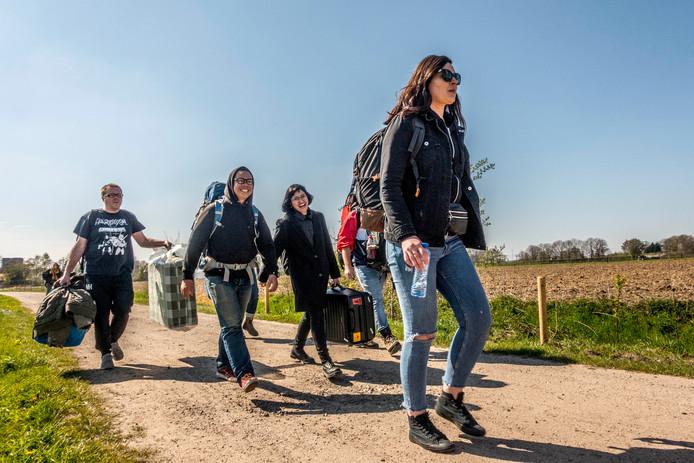 roadburn 2019 op weg naar stadscamping moerenburg