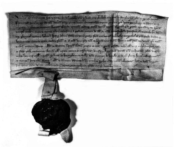 De oorkonde uit 1275, het ontstaan van Gastel.