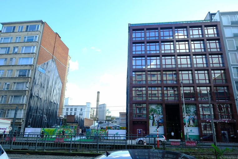 De gebouwen aan de Belgiëlei.