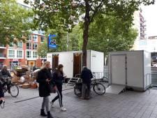 Horeca dicht; mobiele wc's op Plein 44 voor mensen met hoge nood