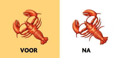 Nieuwe kreeft-emoji krijgt er na klachten twee pootjes bij