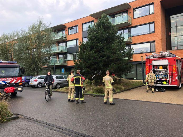 De keukenbrand in Breskens was snel onder controle.