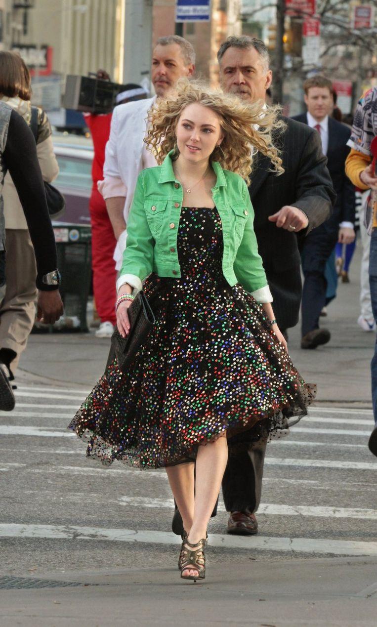 AnnaSophia Robb speelt Carrie Bradshaw in 'The Carrie Diaries'. Beeld ap