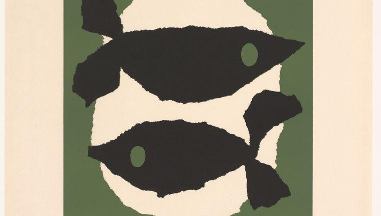 Detail uit Dick Bruna: Twee vissen, 1962. Beeld Mercis B.V.