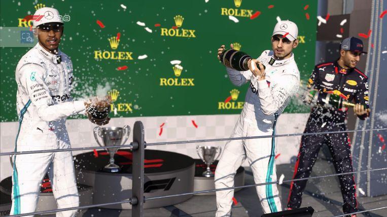 Screenshot uit F1 2018 - Gewonnen!
