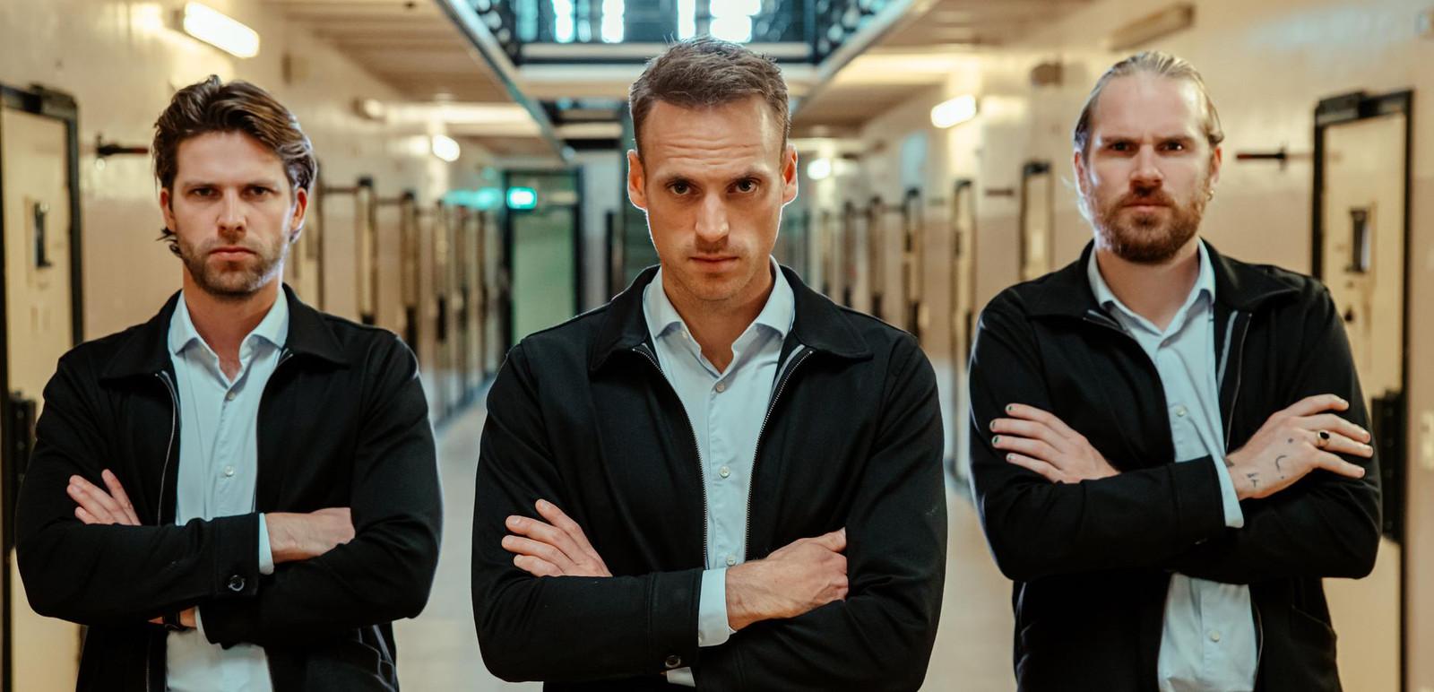 De mannen van stuk TV, vlnr: Thomas, Giel en Stefan