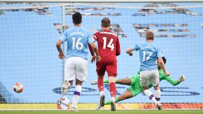 LIVE. Kampioen Liverpool 2-0 achter bij Man City, na De Bruyne scoort ook Sterling!