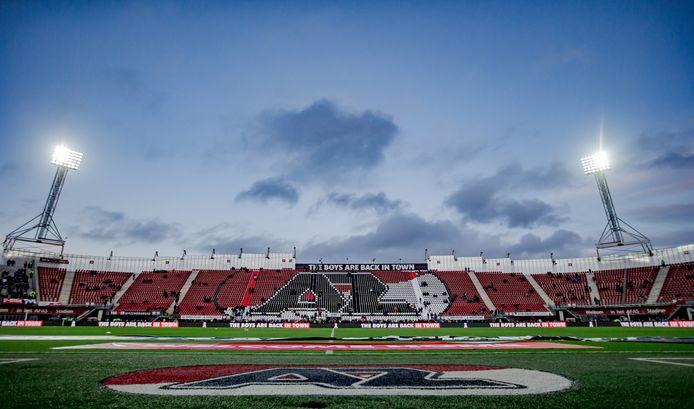 Het AZ-stadion, waar zondag AZ-Feyenoord op het programma stond.