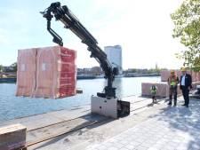 Overslagplatform aan Asiadok bedient Antwerpse bouwwerven van water