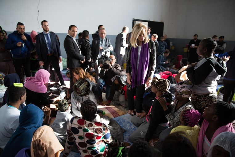 Minster Kaag in het Tajoura Detention Center in Libië. Beeld Ministerie van Buitenlandse Zaken