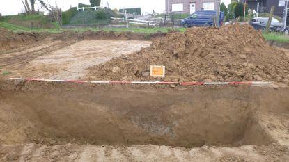 Archeologische opgraving aan de site  van de nieuwe sporthal