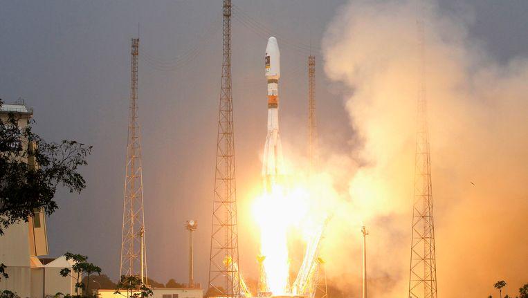 Een Sojoez-raket met Galileo-satellieten aan boord