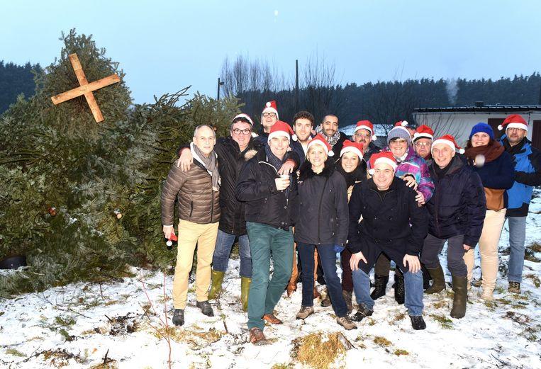 Twee jaar geleden werden de kerstbomen nog gezamenlijk verbrand