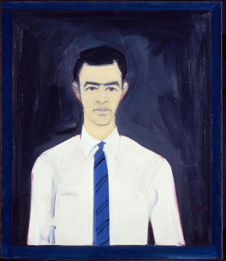 Alex Katz, zelfportret, 1960. Beeld Axa US