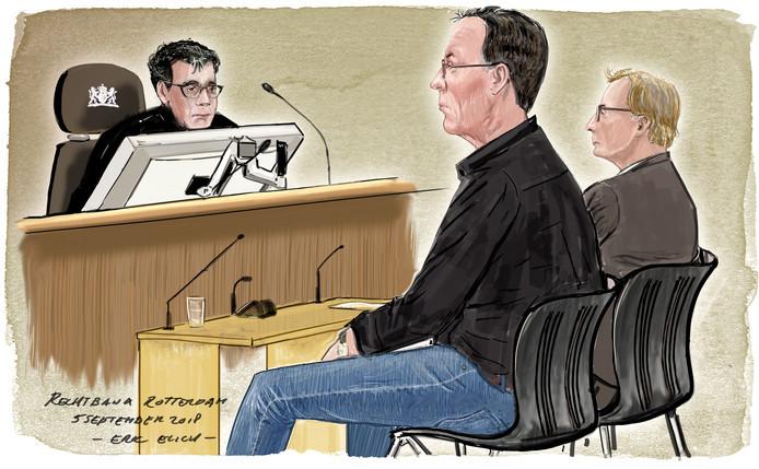 Hoogvlieter Wim P. (links) en de huisarts stonden twee weken geleden terecht in de Rotterdamse rechtbank. Ze zijn nu veroordeeld.