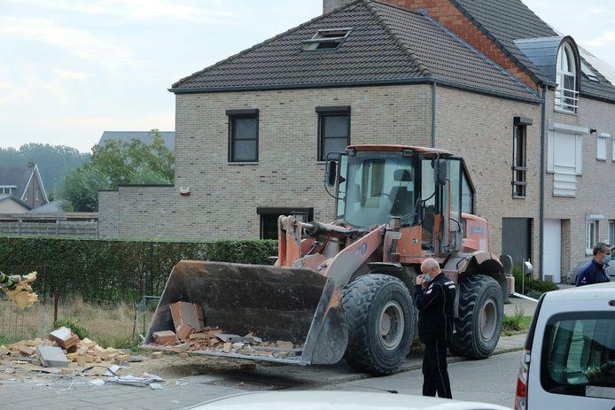 De bulldozer.