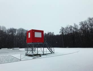 Hier en daar een sneeuwtapijt in Aalst