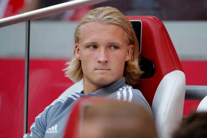 Kasper Dolberg is op weg naar de uitgang bij Ajax.